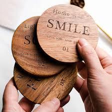 <b>1Pc Wood Coaster</b> Square Round Mug <b>Coasters</b> Table <b>Mat</b> Tea ...