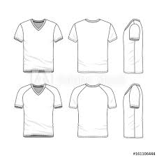 Vector Templates Of Clothing Set Front Back Side Views Of Blank V