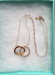 tiffany co 1837 18k gold sterling silver interlocking circles necklace