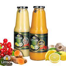 1 lt Zerdeçallı + 1 lt Alıç Sirkeli Limon Sarımsak Kürü Cam Şişe - Sarımsak  Limon kürü