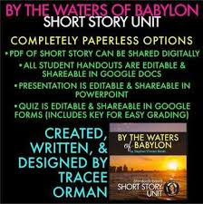 best technology images google classroom  by the waters of babylon short story unit