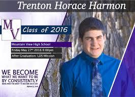 Print Graduation Announcement Harmon Graphic Web Design