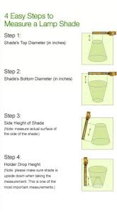 How To Measure A Lamp Shade Enchanting How To Calculate The Correct Lamp Shade Size Based On The Size Of