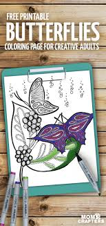Print These Beautiful Butterflies Coloring Pages