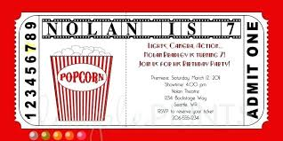 Theatre Invitation Templates Free Cinema Ticket Template Free Popcorn Box For A Better Family Movie