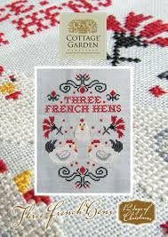 French Cross Stitch Charts Three French Hens