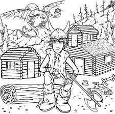 Hiccup From How To Train Your Dragon Coloring Pages For Kids