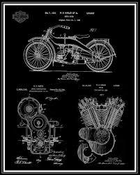 harley davidson patent print harley