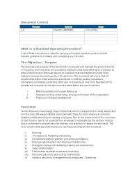 Best Standard Operating Procedure Sop Templates Template Word Free