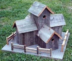 woodworking projects for kids bird house. rustic barnwood decorative bird house condo with fence \u2026 woodworking projects for kids