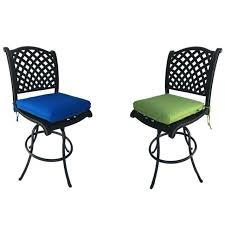 patio bar stools armless set of 2