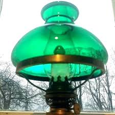 green glass desk lamp bankers shade vintage with
