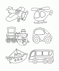Transportation Coloring Page For Toddlers Coloring Pages Printables