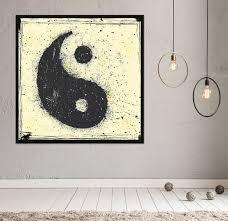 on yin yang canvas wall art with yin yang chinese art framed canvas wall art home decor grunge style