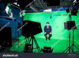 lighting set. Behind The Scenes Of TV Movie Video Film Shooting Production Crew Team And Camera Lighting Set N