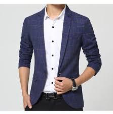 Suit Pattern Amazing Slim Fit Man Suit Check Pattern Coat Men's Fashion Casual Jacket