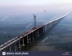 Longest Sea Bridge The Qingdao Haiwan Bridge was completed in Qingdao,  Jiaozhou Bay, China