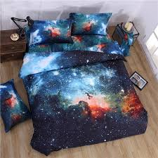 outer space universe 3d galaxy themed bedding