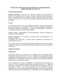 Informe Profesional Formato De Los Informes De Practica Profesional