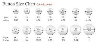 Button Size Chart Aeoluz Com Online Clothing Buttons