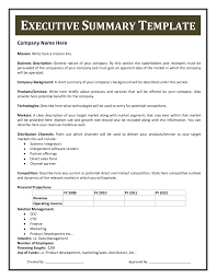 executive summary example business business plan executive summary template business plan template