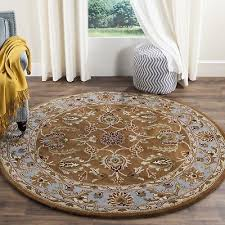 safavieh handmade heritage timeless traditional brown blue wool rug 3 6 x