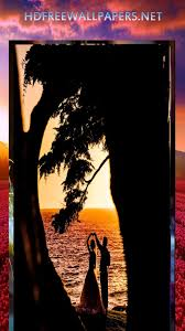 amazing love between couple near sea wallpaper evening time