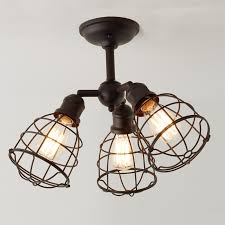 lighting cage. Wire Cage Adjustable Ceiling Light - 3 Bronze Lighting