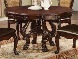 coaster benbrook round dining table dark cherry