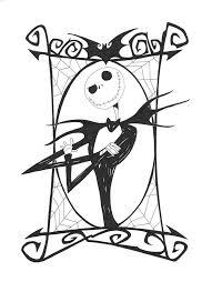Free Printable Nightmare Before Christmas Coloring Pages Sewing
