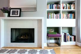 gas fireplace wood trim dc metro contemporary mantel square serving trays living room flooring chevron tile