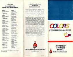 Sherwin Williams Color Chart Details About Sherwin Williams Metalatex Semi Gloss Enamel 1973 Brochure Color Chart