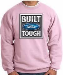 pink built ford tough logo. Simple Logo Built Ford Tough Sweatshirt  Logo Adult Pink Sweat Shirt Intended