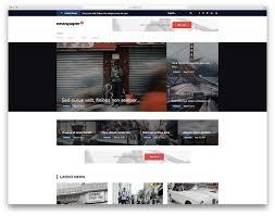 Website Template Newspaper 31 Best Free News Website Templates 2019 Colorlib