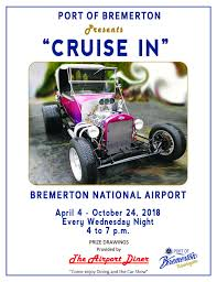 enjoy unique cars during this weekly car show put on by the saints car club of port orchard port of bremerton and the airport diner