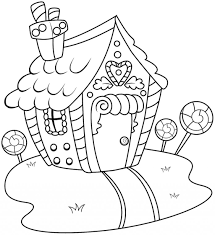 Coloring Pages Gingerbreadhouse Coloring Book Gingerbread House