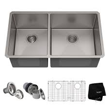 60 40 sink attractive water creation undermount stainless steel 32 in double bowl kitchen throughout 0