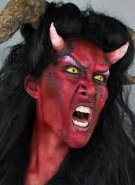 devil halloween makeup with diy horns