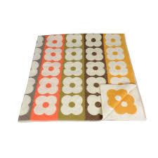 Paula Kiely Designer Orla Kiely Multi Flower Stripe Blanket Kids Rugs