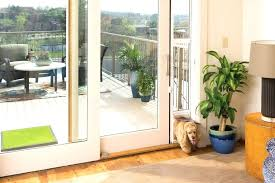 screen door with doggie door storm door door sliding glass door with dog door built in