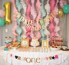 Gold Birthday Decorations Pink And Gold Twinkle Little Star 1st Birthday Party Birthdays