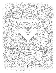 Heart Coloring Pages Kinkenshopinfo