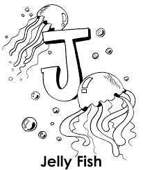 Small Picture Big J For Jellyfish Coloring Pages Animal Coloring pages of