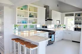 quartz kitchen countertops white cabinets. Seagrass Barstools Cottage Kitchen Lynn Morgan Design From Quartz Countertops With White Cabinets