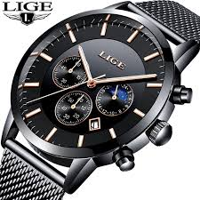 <b>New LIGE Mens Watches</b> Top Brand Luxury Business Chronograph ...
