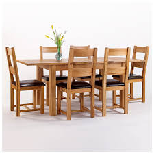 50 off rustic oak dining table and 6 chairs extending westbury