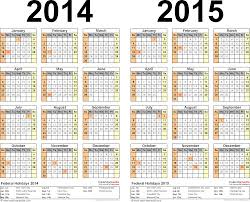 Printable 2015 Calendars By Month 2014 2015 Two Year Calendar Free Printable Pdf Templates