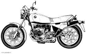 Kleurplaat Motor