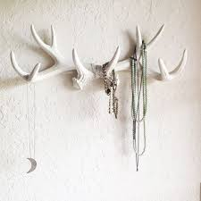 any color or white antler wall mount rustic wall hook faux deer antler wall decor