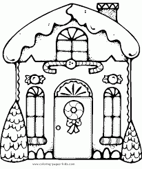 Small Picture Gingerbread Activities Free Gingerbread House Coloring Page with